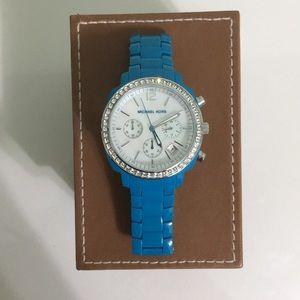 Michael Kors funky blue oversized watch